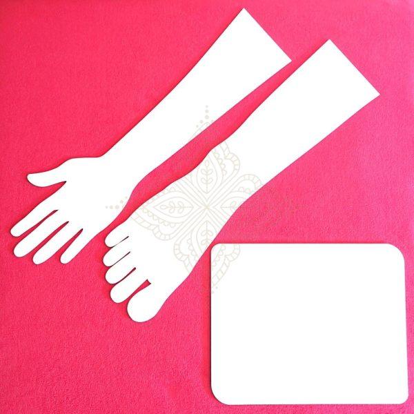 white henna template set
